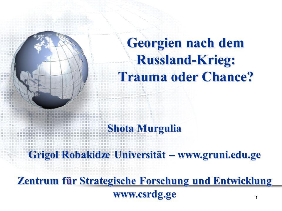 Georgien nach dem Russland-Krieg: Trauma oder Chance