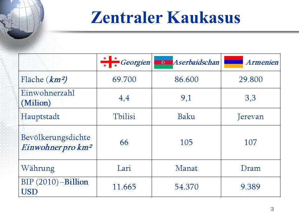Zentraler Kaukasus Fläche (km²) 69.700 86.600 29.800