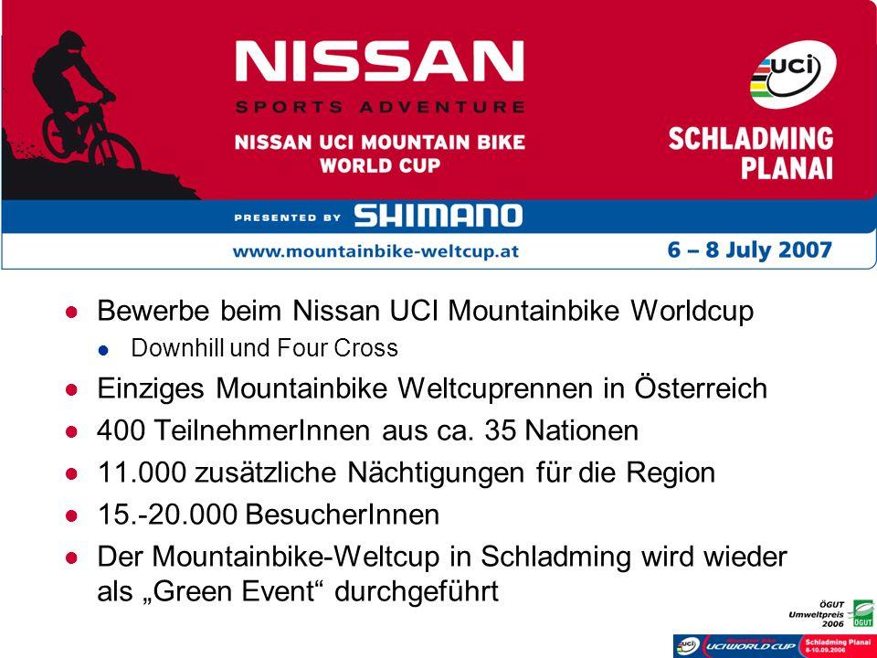 Bewerbe beim Nissan UCI Mountainbike Worldcup