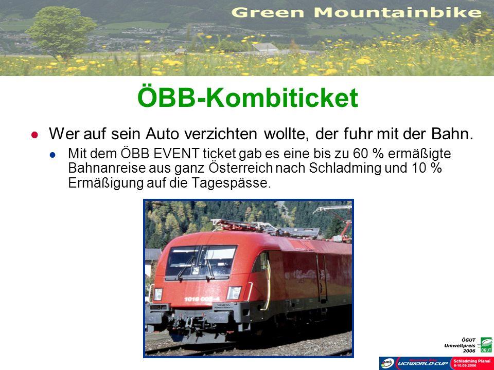 ÖBB-KombiticketWer auf sein Auto verzichten wollte, der fuhr mit der Bahn.
