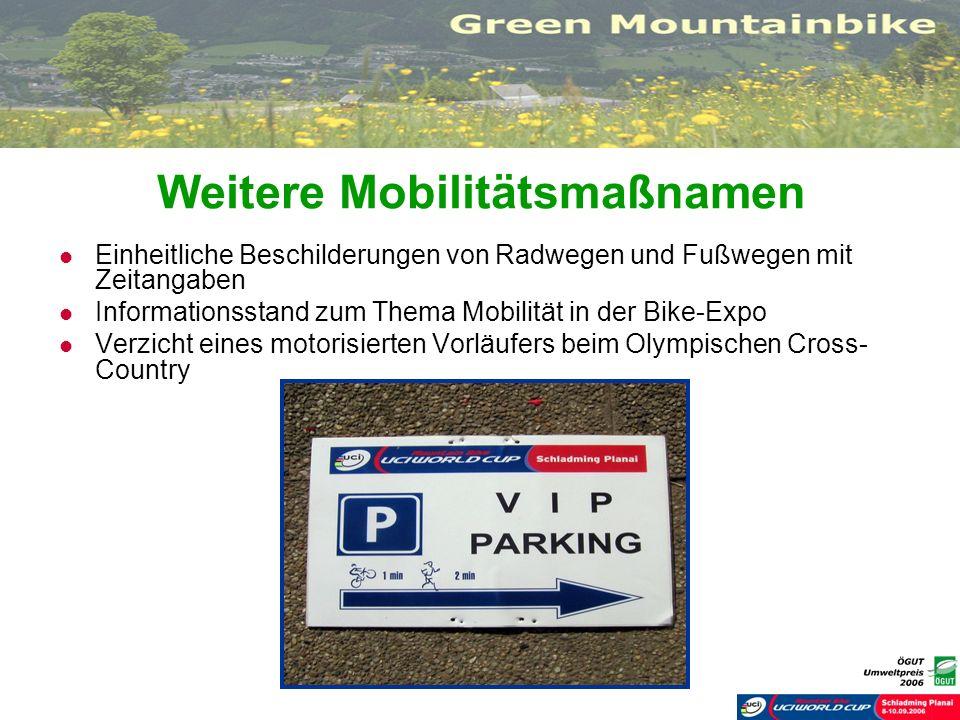 Weitere Mobilitätsmaßnamen
