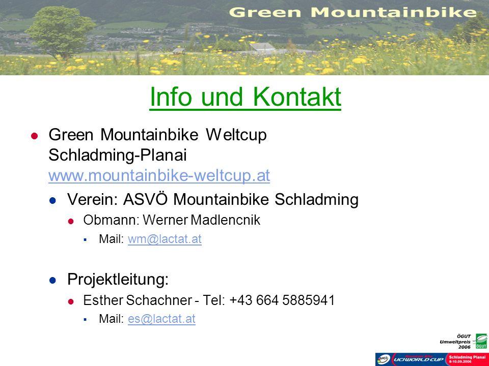 Info und KontaktGreen Mountainbike Weltcup Schladming-Planai www.mountainbike-weltcup.at. Verein: ASVÖ Mountainbike Schladming.