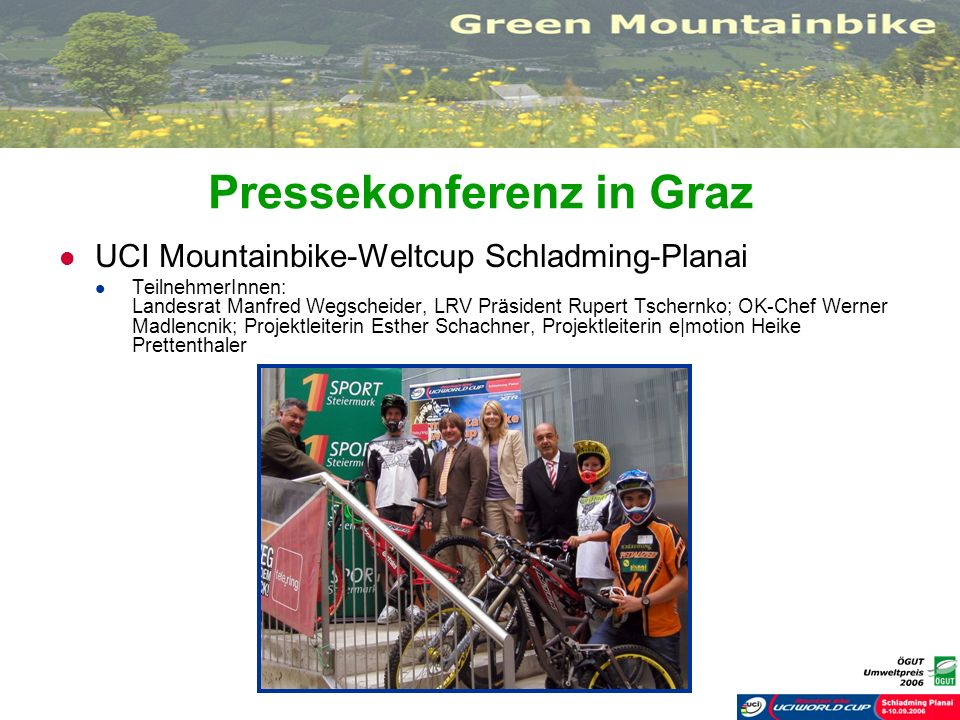 Pressekonferenz in Graz