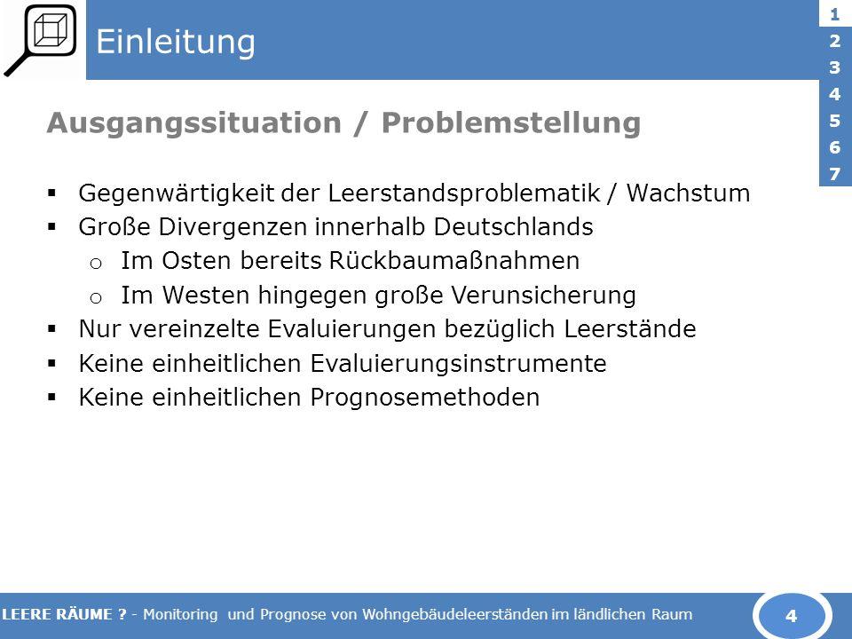 Einleitung Ausgangssituation / Problemstellung