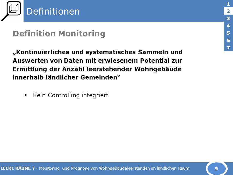 Definitionen Definition Monitoring