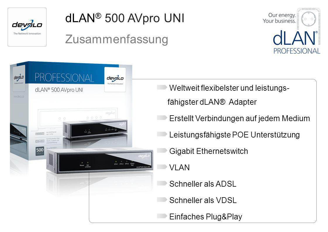 dLAN® 500 AVpro UNI Zusammenfassung