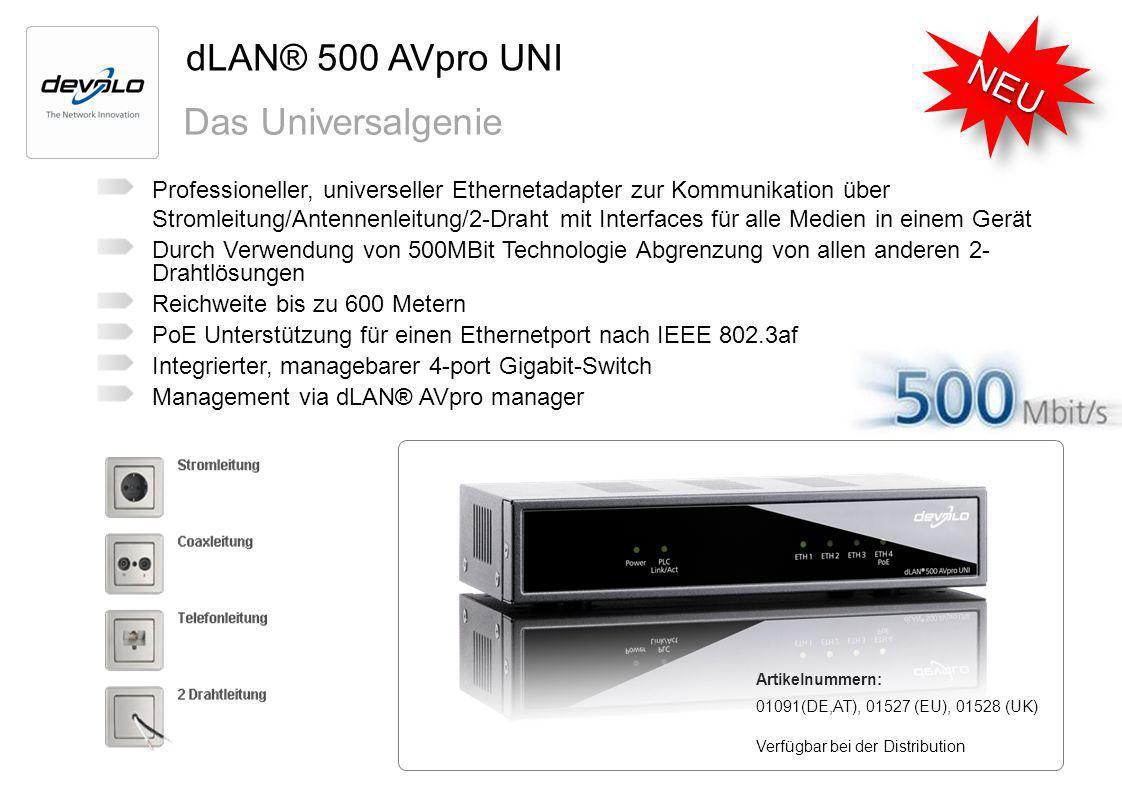 dLAN® 500 AVpro UNI NEU Das Universalgenie