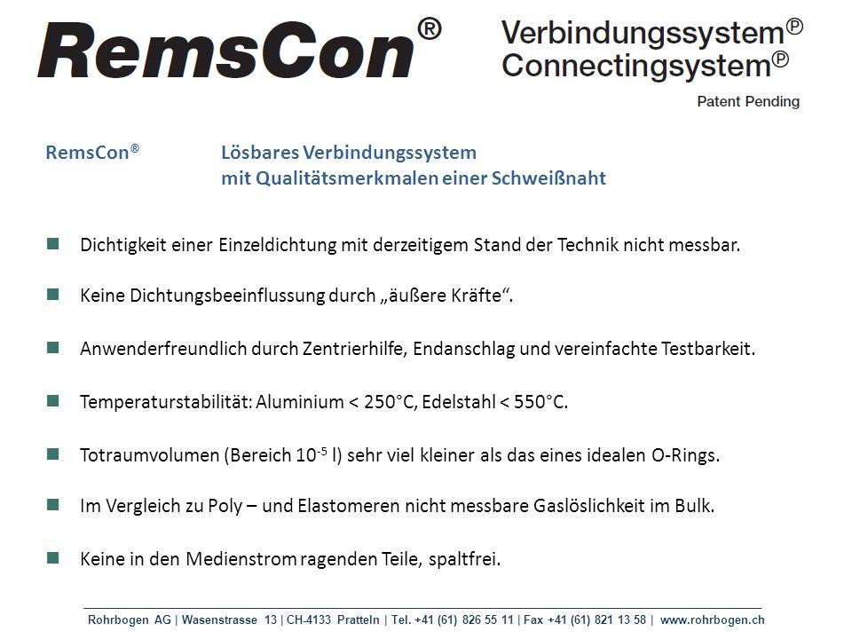 RemsCon® Lösbares Verbindungssystem