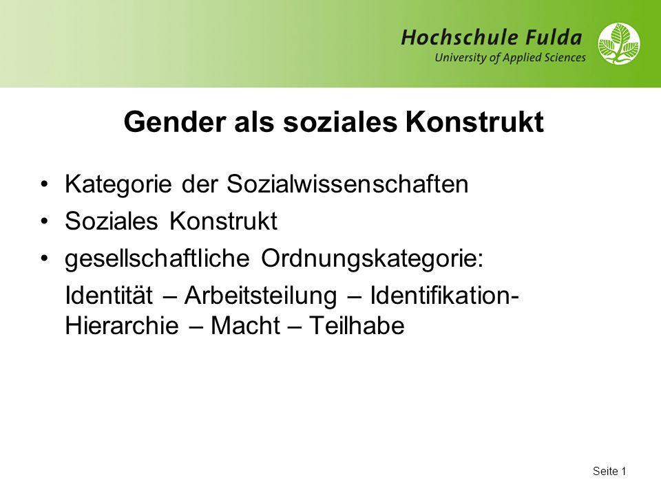 Gender als soziales Konstrukt