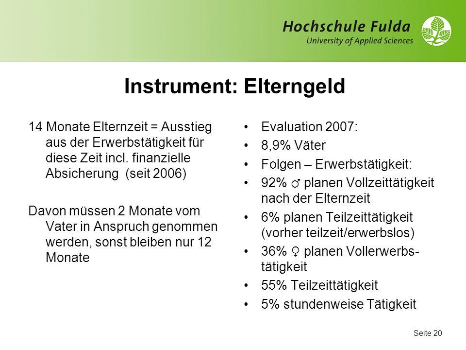 Instrument: Elterngeld