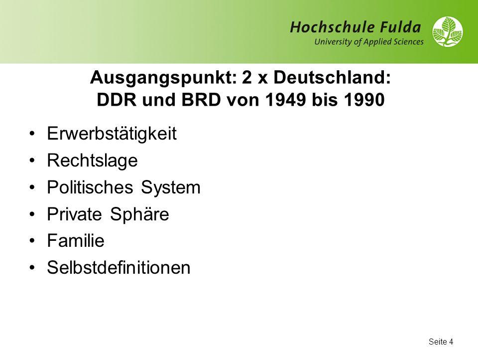 Ausgangspunkt: 2 x Deutschland: DDR und BRD von 1949 bis 1990