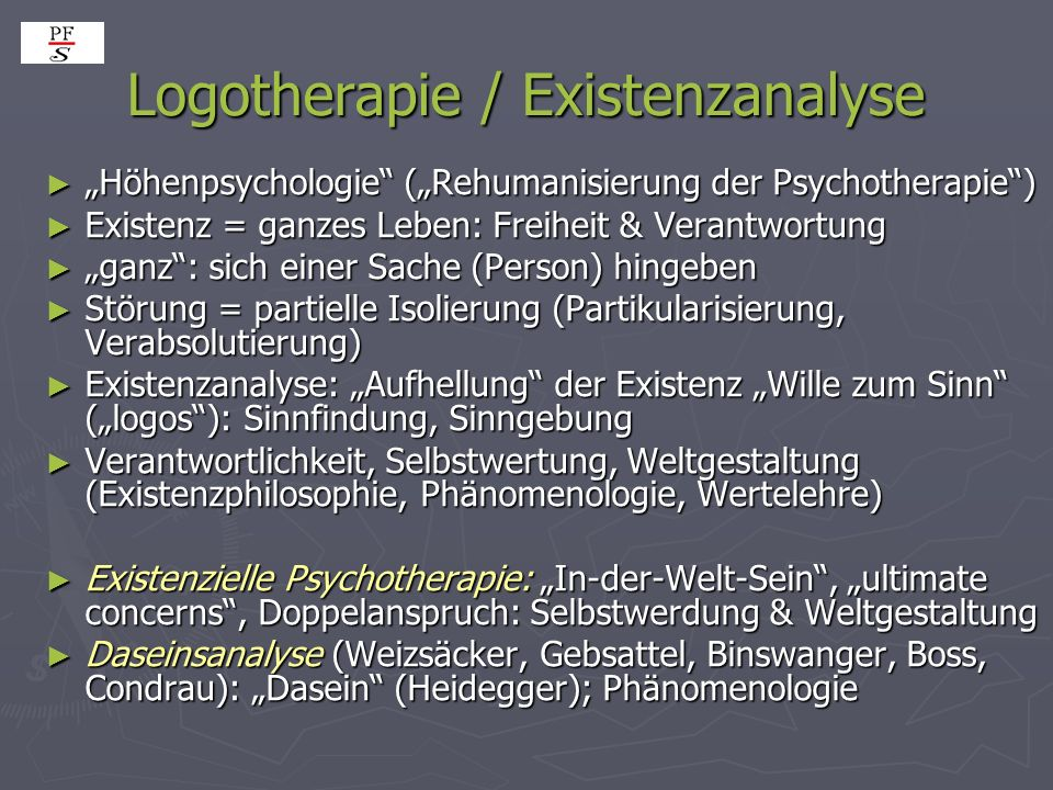 Logotherapie / Existenzanalyse