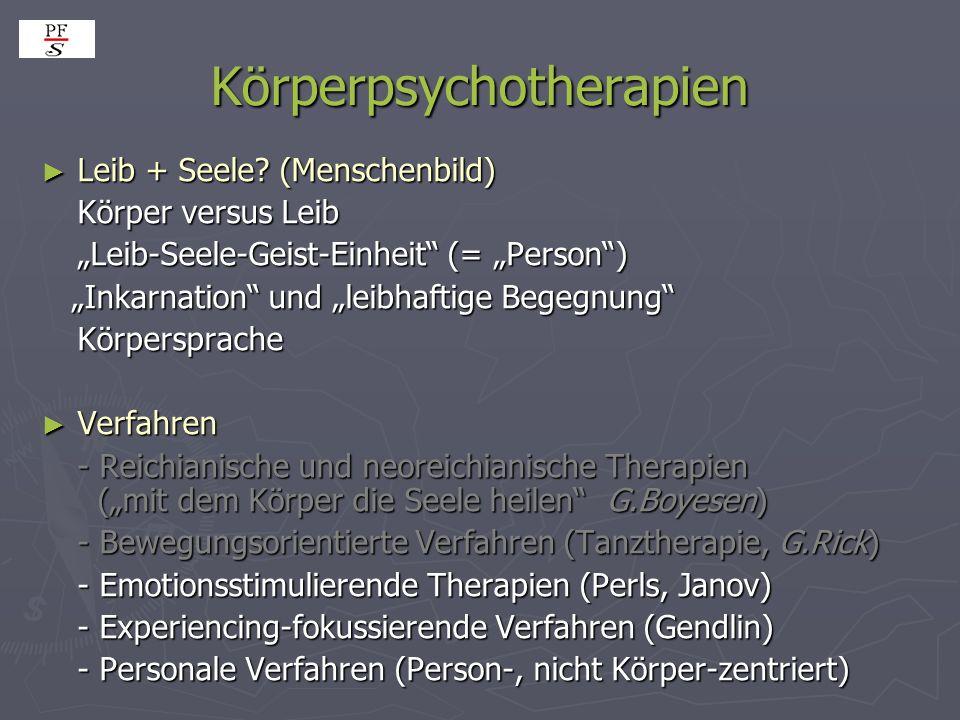 Körperpsychotherapien