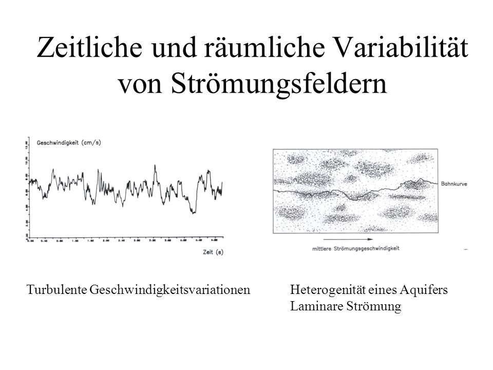 Zeitliche und räumliche Variabilität von Strömungsfeldern