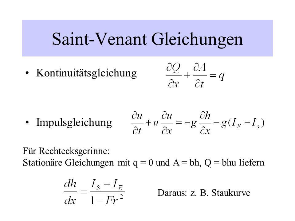 Saint-Venant Gleichungen