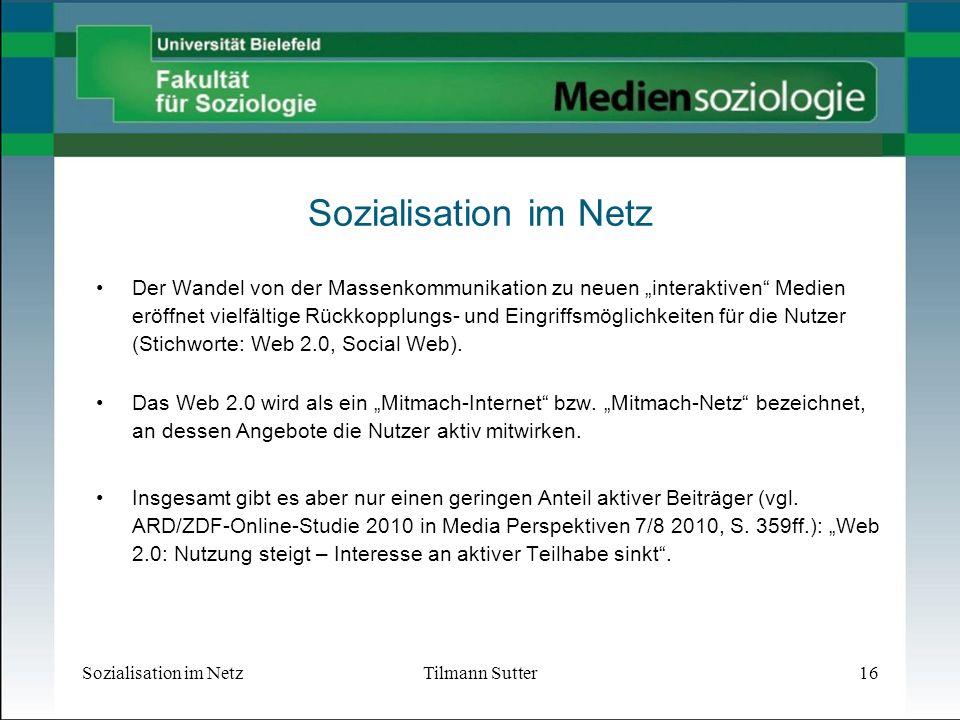 Sozialisation im Netz