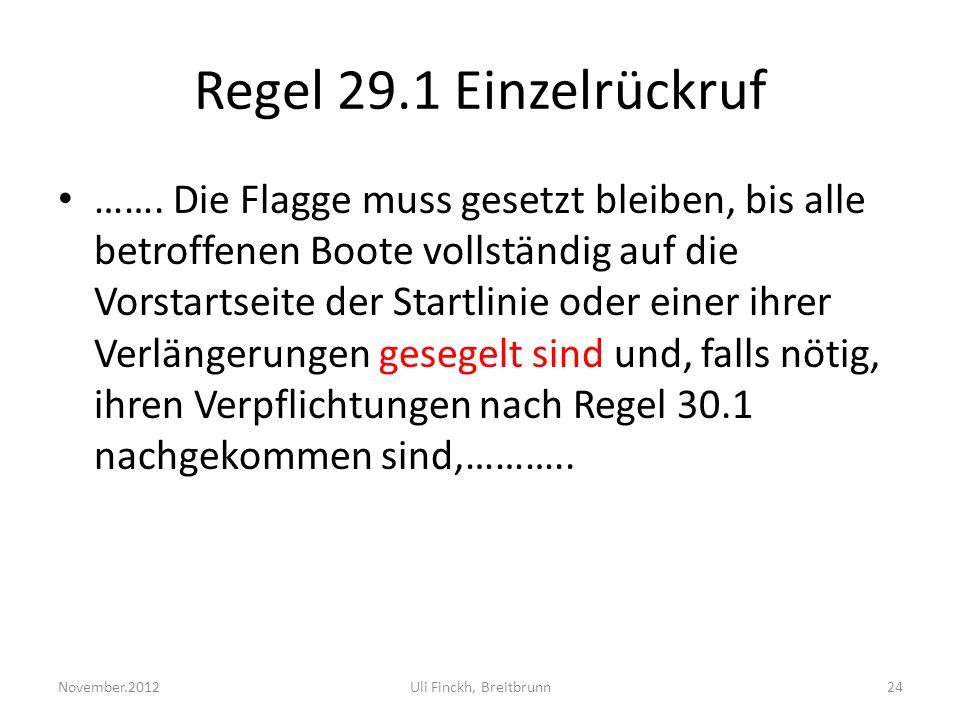 Regel 29.1 Einzelrückruf