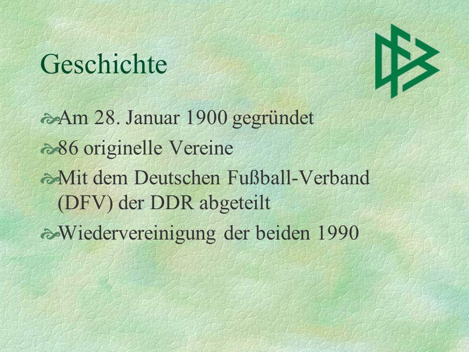 Geschichte Am 28. Januar 1900 gegründet 86 originelle Vereine