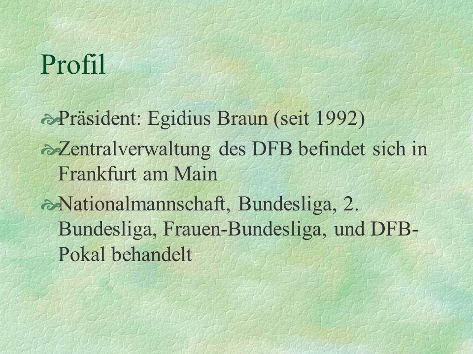 Profil Präsident: Egidius Braun (seit 1992)