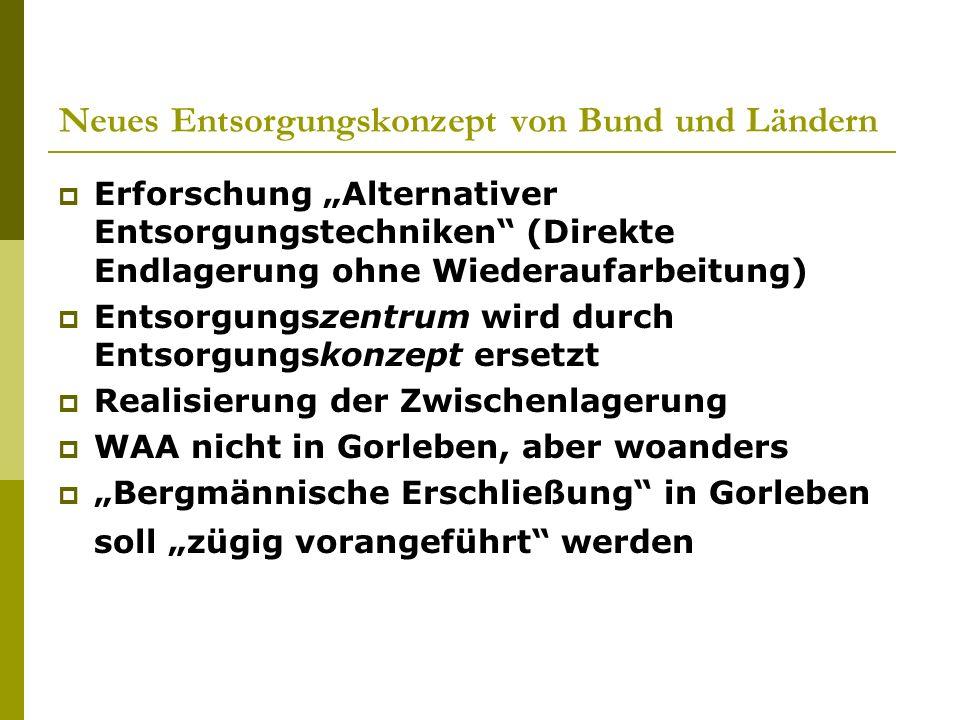 Neues Entsorgungskonzept von Bund und Ländern
