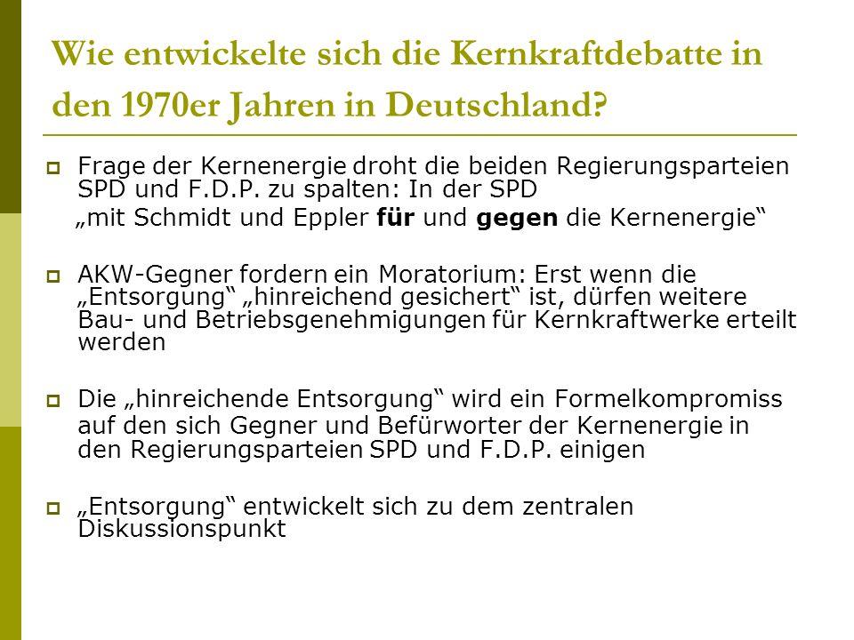 """""""mit Schmidt und Eppler für und gegen die Kernenergie"""