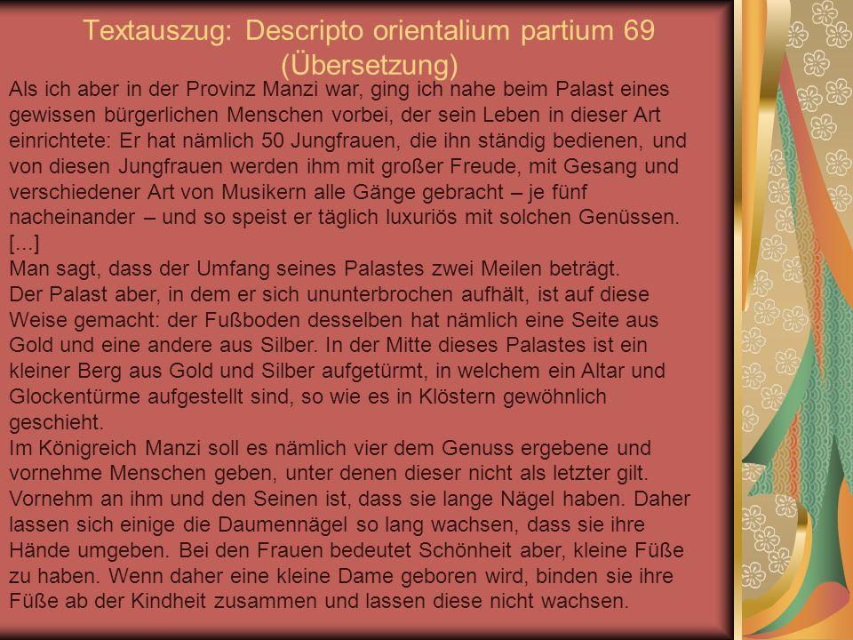 Textauszug: Descripto orientalium partium 69 (Übersetzung)