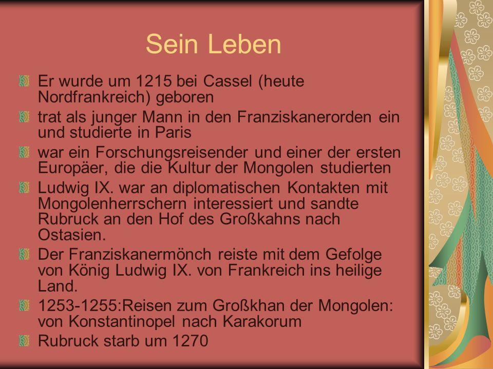 Sein Leben Er wurde um 1215 bei Cassel (heute Nordfrankreich) geboren