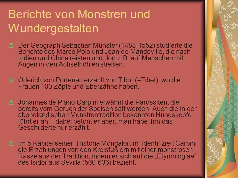 Berichte von Monstren und Wundergestalten