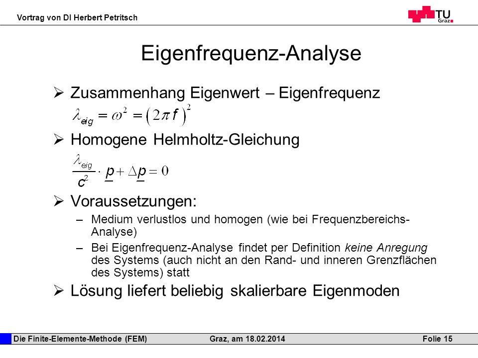 Die finite elemente methode fem als simulationsmethode for Fem randbedingungen