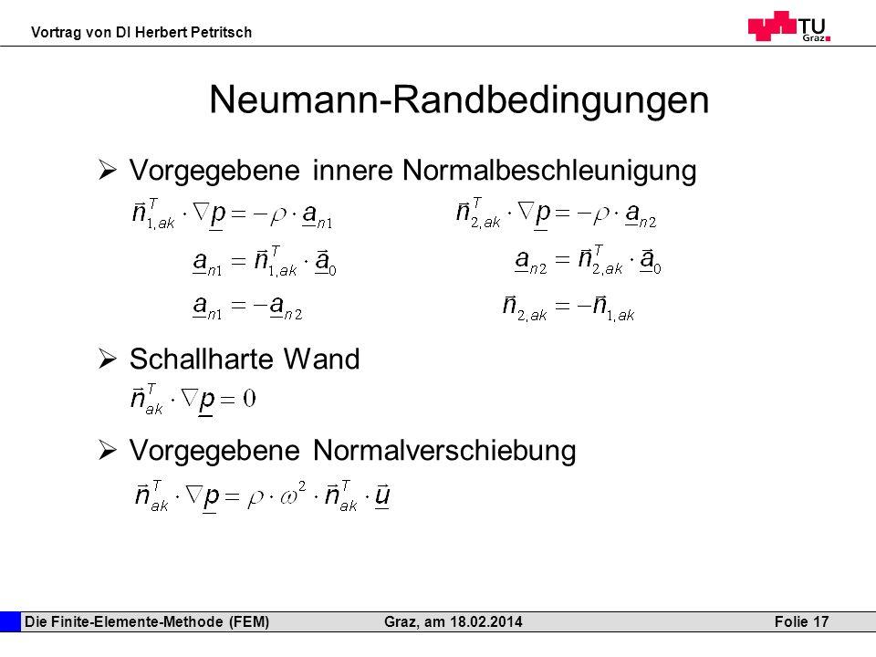 Neumann-Randbedingungen
