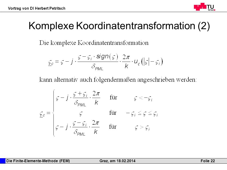 Komplexe Koordinatentransformation (2)