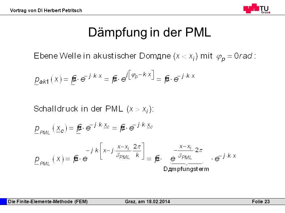Dämpfung in der PML