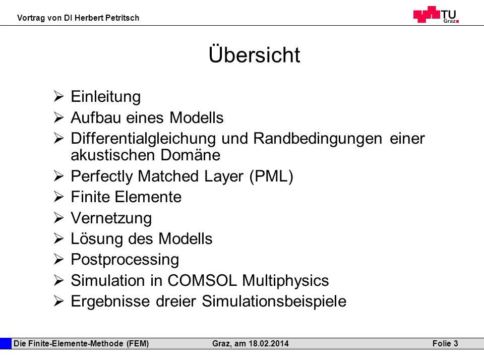 Übersicht Einleitung Aufbau eines Modells