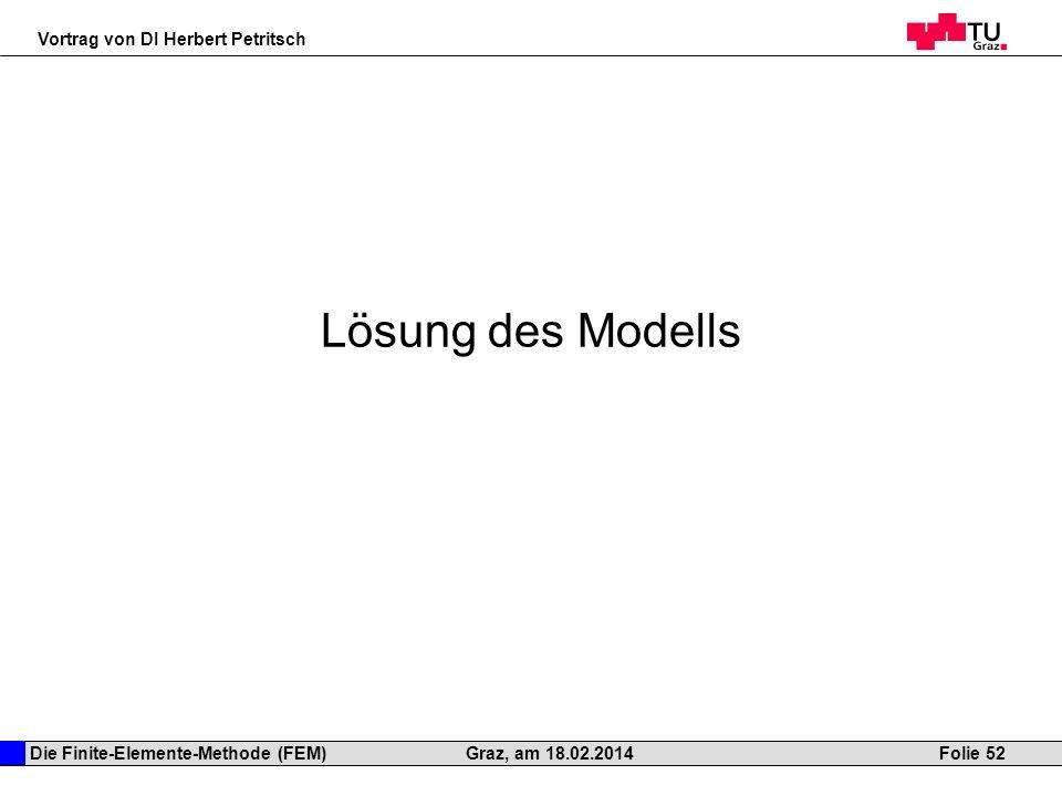 Lösung des Modells