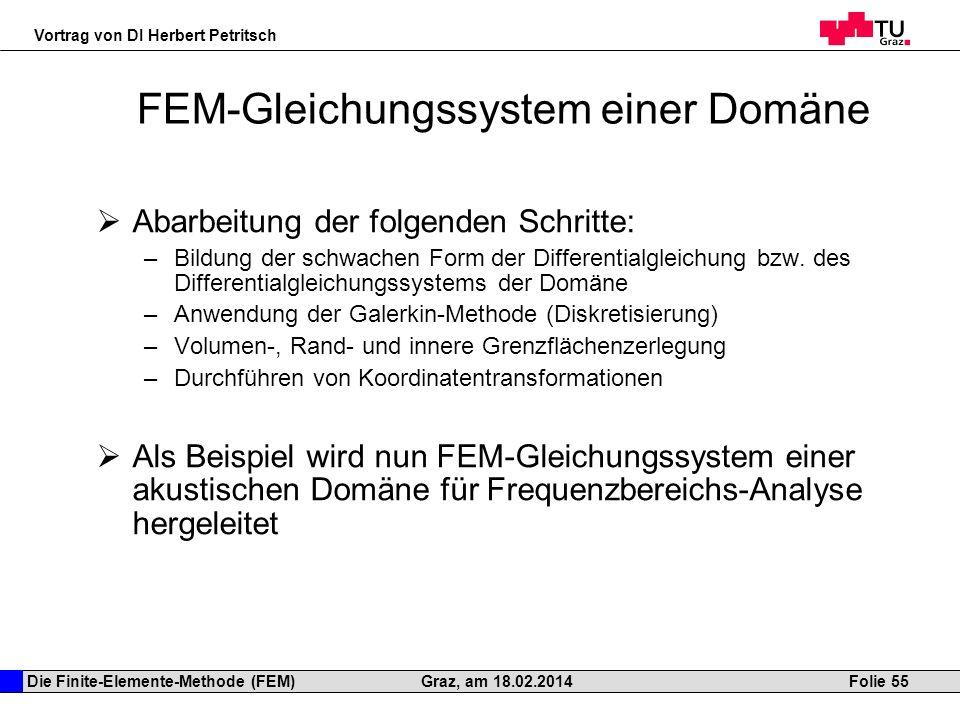 FEM-Gleichungssystem einer Domäne