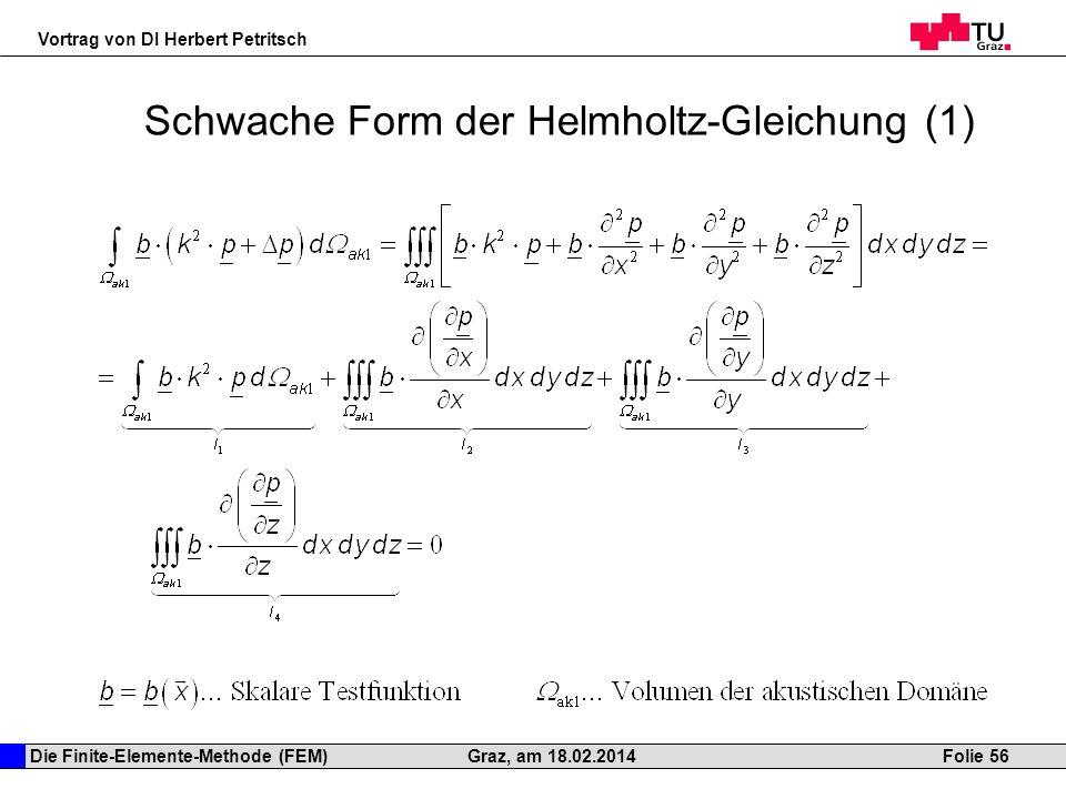 Schwache Form der Helmholtz-Gleichung (1)