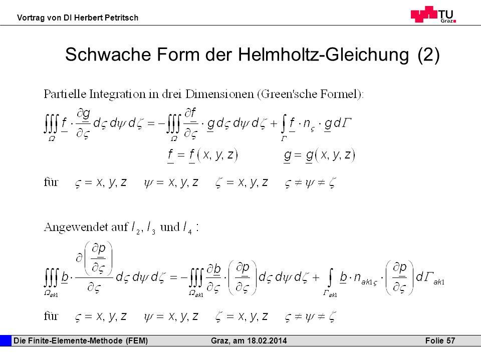 Schwache Form der Helmholtz-Gleichung (2)