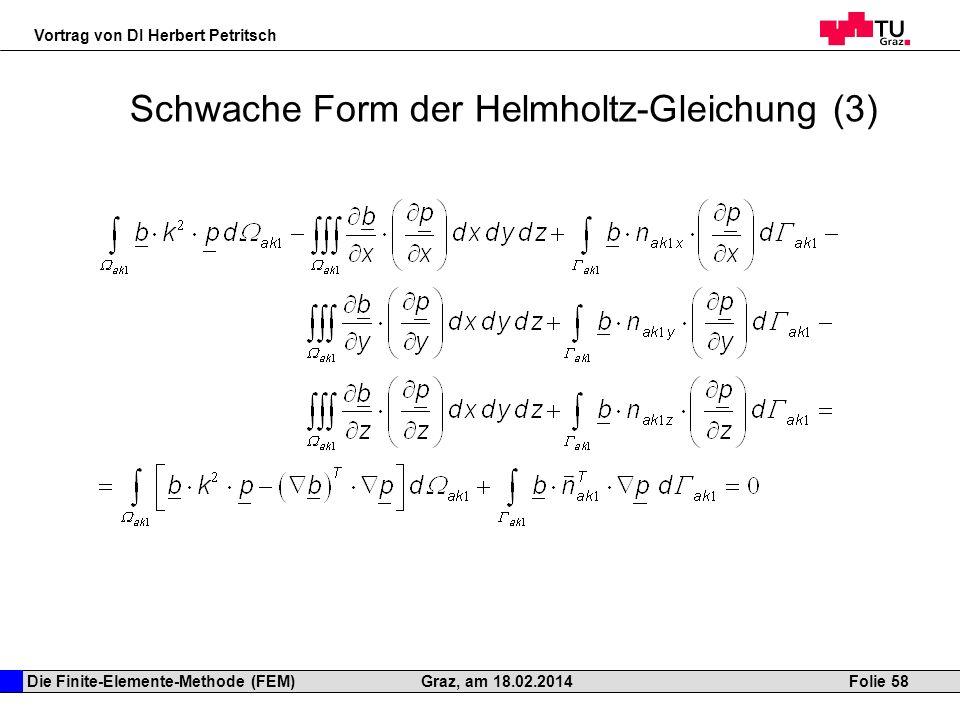 Schwache Form der Helmholtz-Gleichung (3)
