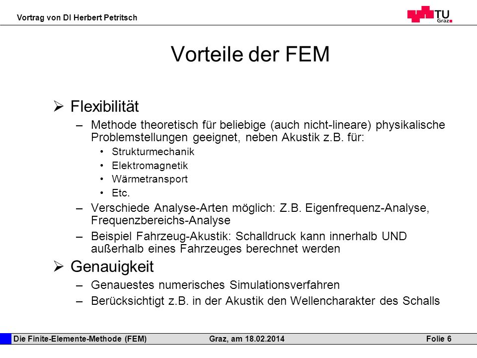 Die finite elemente methode fem als simulationsmethode for Fem methode