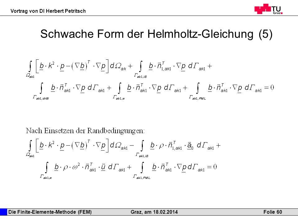 Schwache Form der Helmholtz-Gleichung (5)