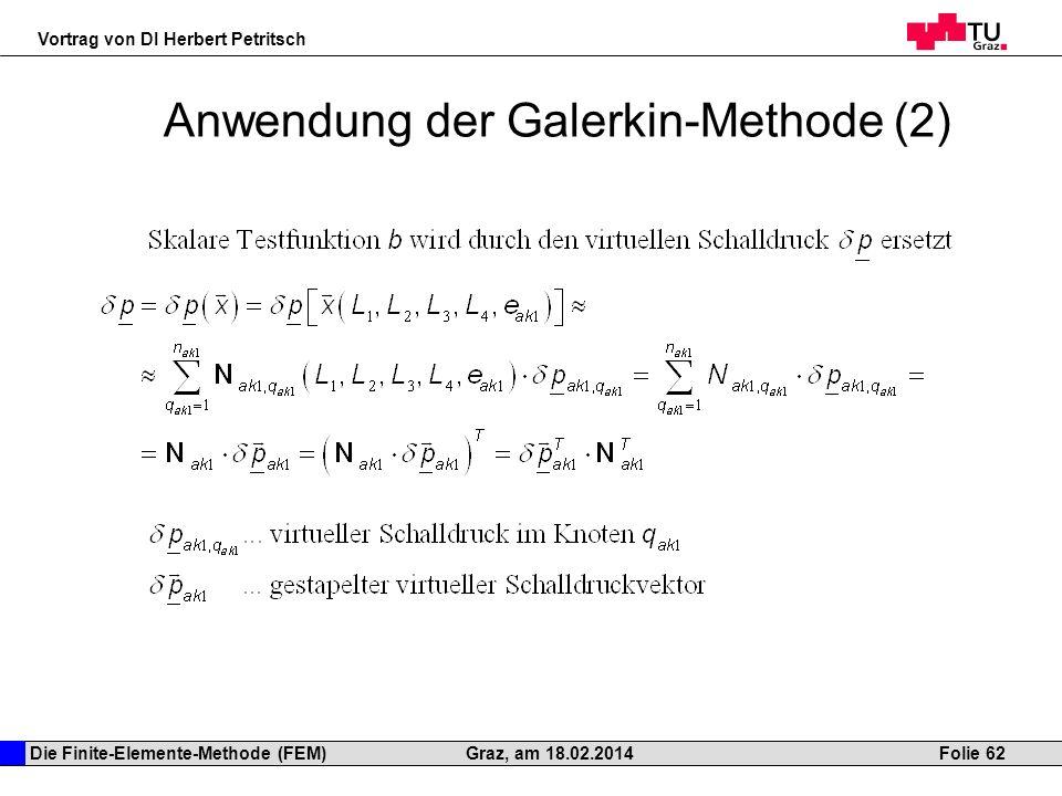 Anwendung der Galerkin-Methode (2)