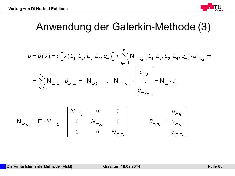 Anwendung der Galerkin-Methode (3)