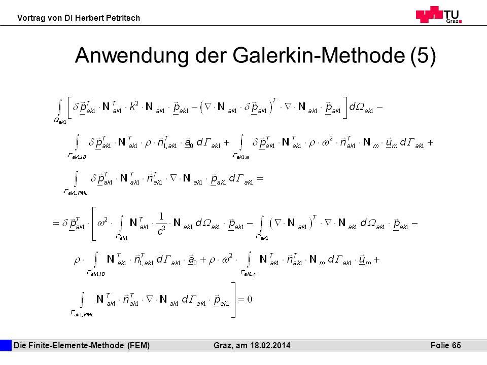Anwendung der Galerkin-Methode (5)