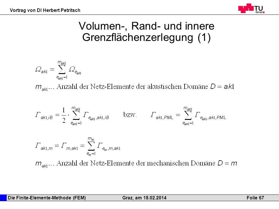 Volumen-, Rand- und innere Grenzflächenzerlegung (1)