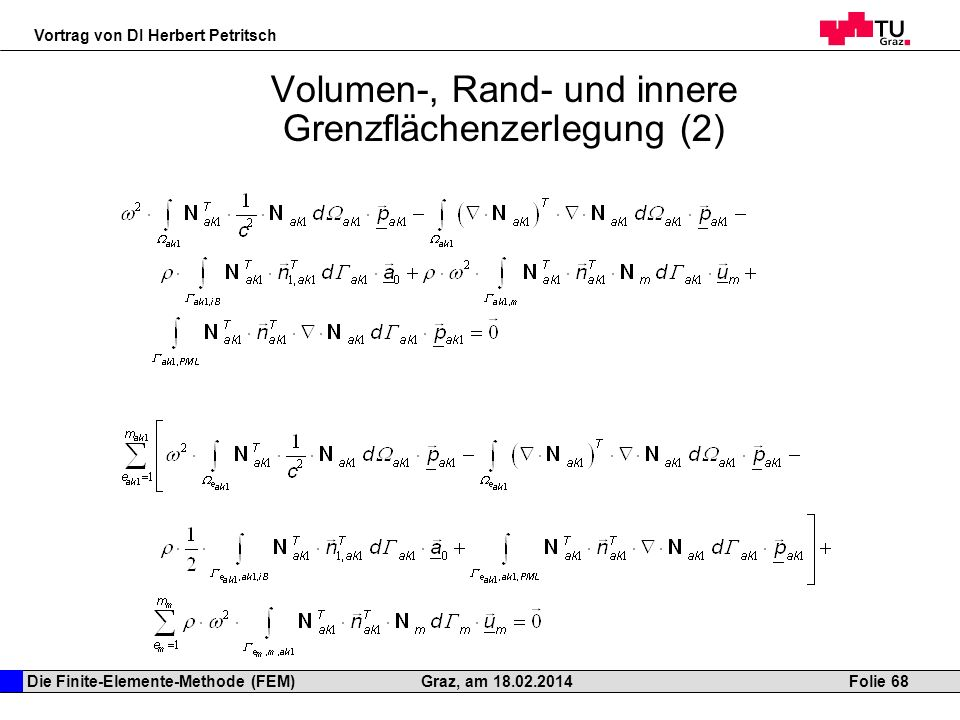 Volumen-, Rand- und innere Grenzflächenzerlegung (2)