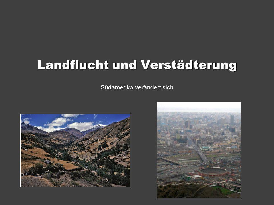 Landflucht und Verstädterung