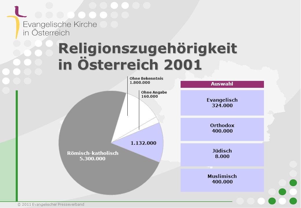 Religionszugehörigkeit in Österreich 2001