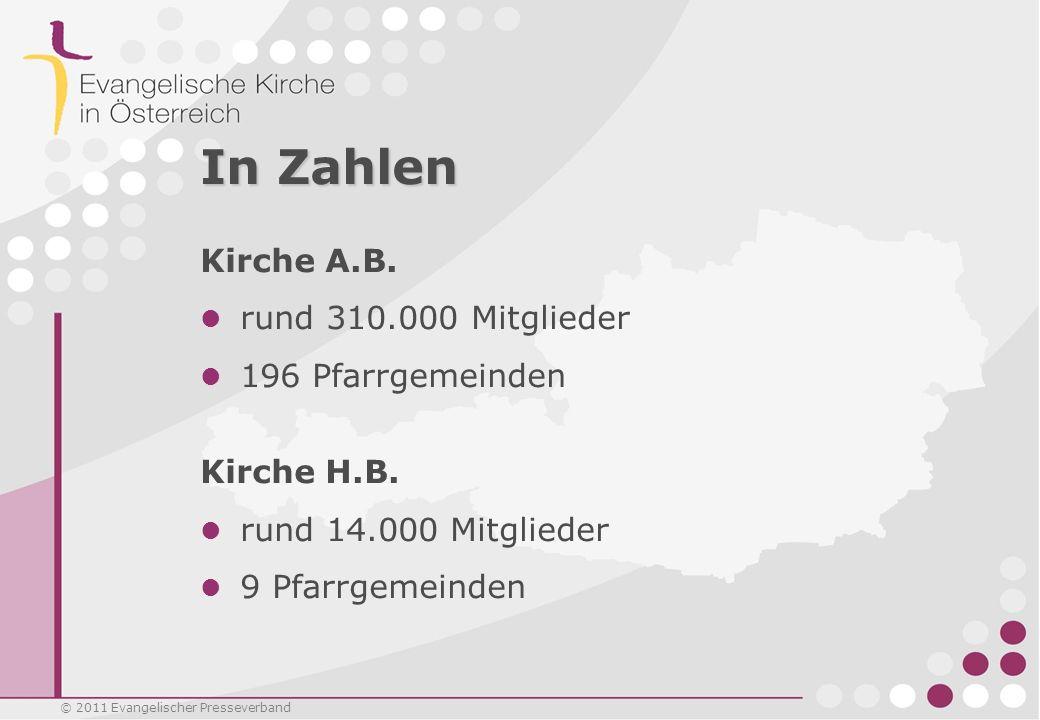 In Zahlen Kirche A.B. rund 310.000 Mitglieder 196 Pfarrgemeinden