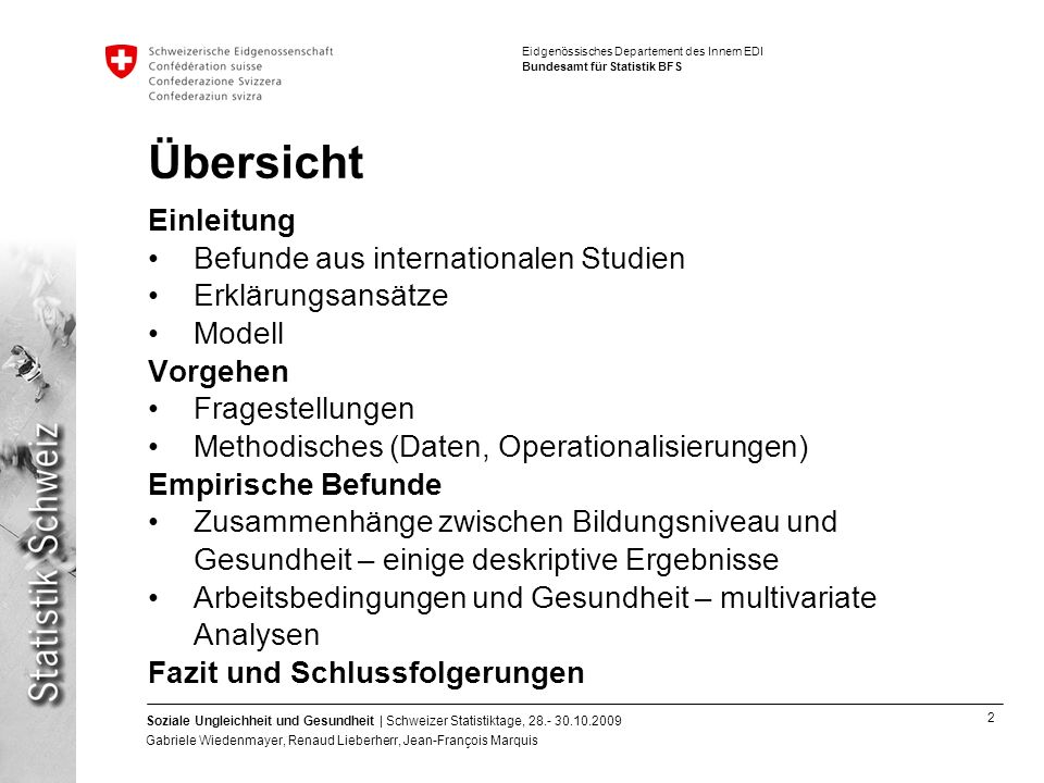 Übersicht Einleitung Befunde aus internationalen Studien