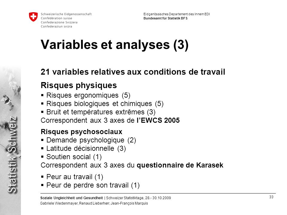 Variables et analyses (3)